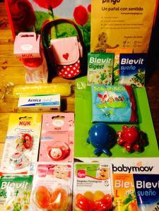 Productos de canastilla de bebé gratis que te daban con la entrada a Todo Papás Loves Bcn